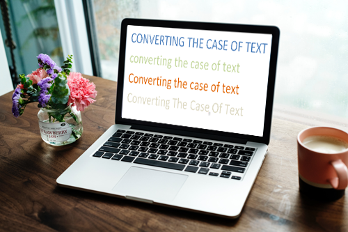 How do I convert lower case text to uppercase text in Microsoft Word?