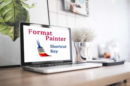 What is the shortcut key for Format Painter?