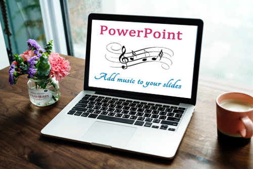 How can you add music in PowerPoint?