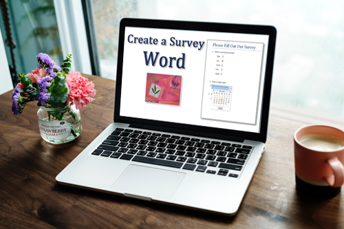 How do I create a survey in Word?