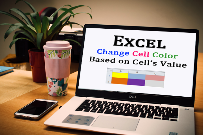 How can you instruct Excel to give a cell a particular fill color if a certain criterion is met?
