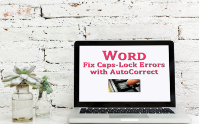Is there a way to fix caps-lock errors in Microsoft Word?