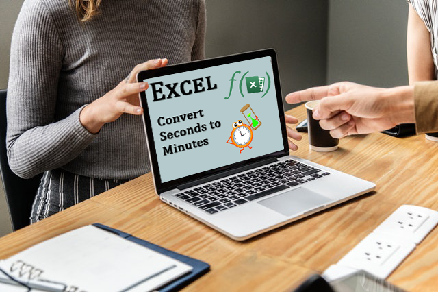 How do I convert seconds to minutes in Microsoft Excel?