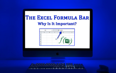 Why is the formula bar important in MS-Excel?
