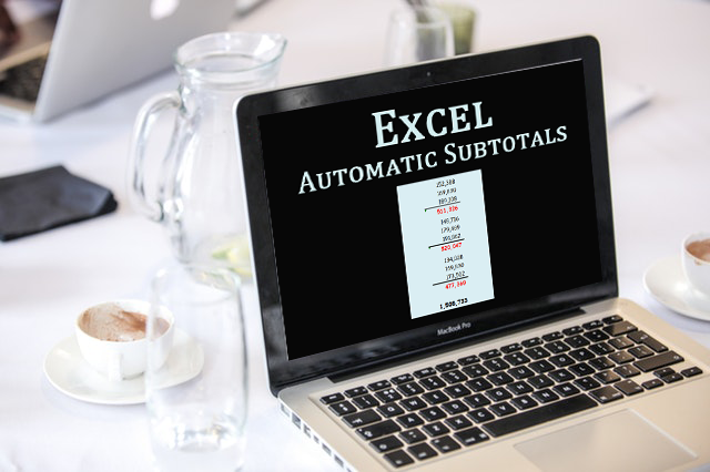 What is the use of the subtotal function in Microsoft Excel, and how can I use it?